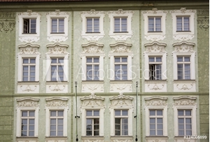 Bild på Old Building With Architectural Details; Prague, Czech Republic