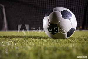 Bild på Close-up of soccer ball on playing field
