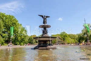 Bild på Bethesda Fountain (Angel of water fountain) located in Central Park, New York City, USA.