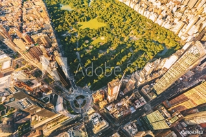 Bild på Aerial view of Columbus Circle and Central Park in NY City