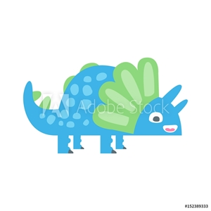 Bild på Cute funny colorful dinosaur. Prehistoric animal character colorful vector Illustration