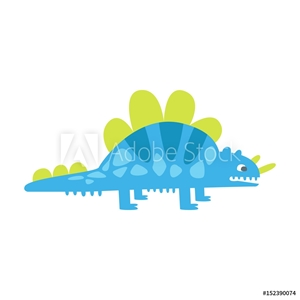Bild på Blue cute styracosaurus. Prehistoric animal character colorful vector Illustration