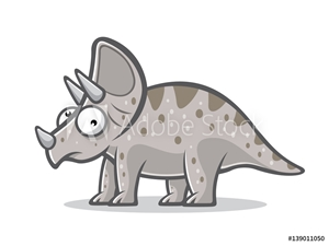 Bild på Cartoon Funny Triceratops