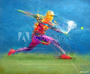 Bild på Abstract tennis player