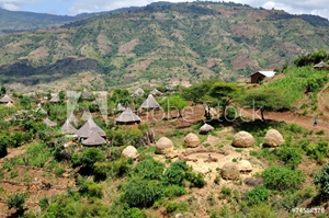 Bild på Country of tribe Derashe in Ethiopia