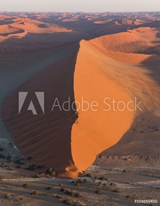 Bild på Aerial view of Large Sand Dune in Namibia