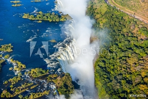 Bild på Bird eye view of the Victoria falls waterfall on Zambezi river