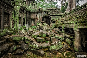Bild på Ancient ruins of Ta Prohm temple, Angkor, Cambodia