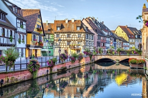 Bild på Colorful traditional french houses in Colmar