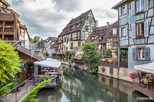 Bild på Colorful traditional french houses in Colmar, France