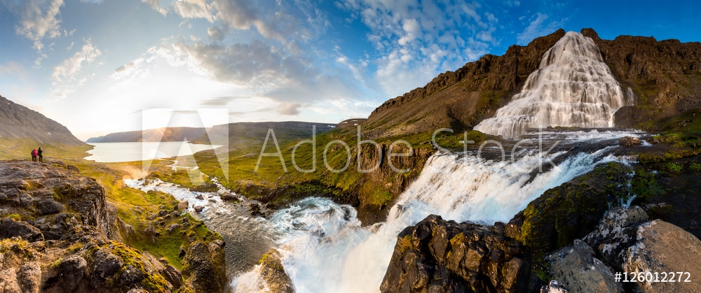 Bild på Big Dynjandi waterfall in Iceland