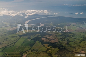 Bild på Aerial view of river Chepo mouth, souther coast of Panama