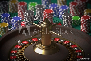 Bild på 3D rendered illustration of casino roulette. Gambling concept.