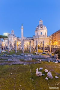 Bild på Europe, Italy, Lazio, Rome. Sunrise at Trajan Forum