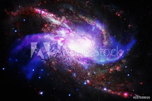 Bild på Galaxy and nebula. Elements of this Image Furnished by NASA