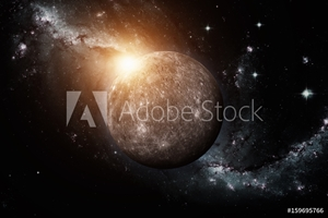 Bild på Planet Mercury. Space background. Elements of this image furnished by NASA.
