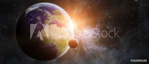 Bild på Planet Earth in space 3D rendering elements of this image furnished by NASA