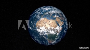 Bild på Extremely detailed and realistic high resolution 3D image of Earth. Shot from space. Elements of this image are furnished by Nasa.