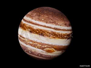 Bild på planet Jupiter isolated on black background