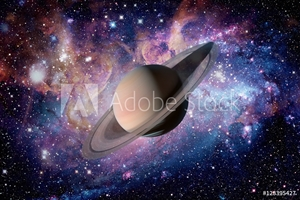 Bild på Solar System - Saturn. It is the sixth planet from the Sun.