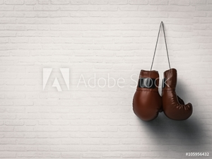 Bild på boxing gloves on white wall